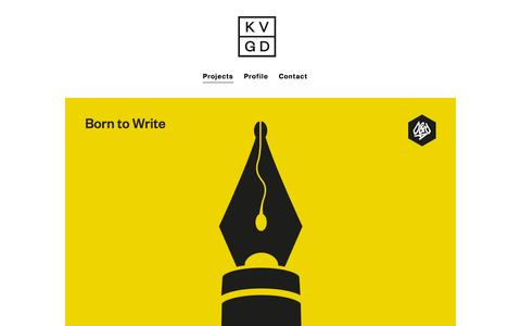 Screenshot of Home Page kerrvernon.co.uk - Award-winning Graphic Design Agency, Glasgow   Branding and Logo Design - KVGD is a Glasgow based independent graphic design studio - captured Sept. 30, 2014