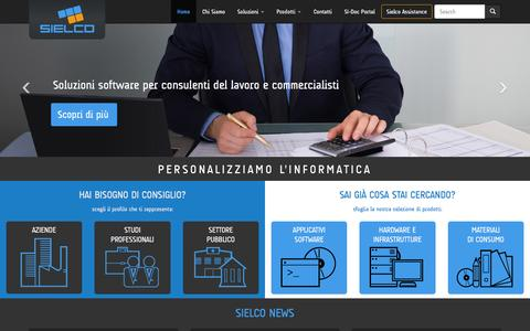 Screenshot of Home Page sielco.it - Sielco - Personalizziamo L'informatica | Sielco - captured Feb. 14, 2016