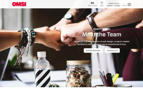 Screenshot of Team Page omsi.edu - Museum Services Team | OMSI - captured Sept. 20, 2018