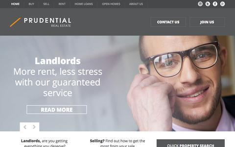 Screenshot of Home Page prudential.com.au - Real Estate Sydney & Property Management - Prudential Real Estate - captured Sept. 17, 2015