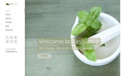 Screenshot of Home Page basilgroup.eu - BASIL GROUP – A lifetime Experience around the Corner - captured July 28, 2016