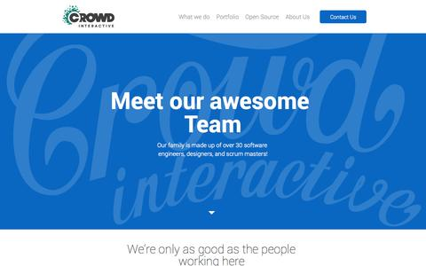 Screenshot of Team Page crowdint.com - Crowd Interactive | Leading eCommerce consultancy firm - captured Sept. 23, 2014