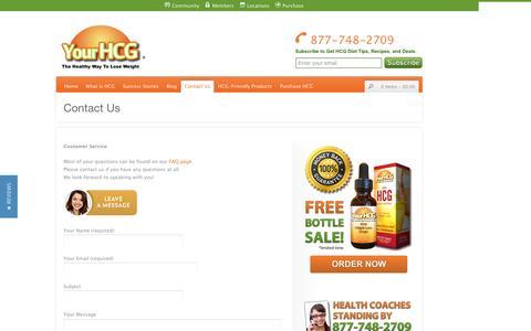 Screenshot of Contact Page yourhcg.com - Contact YourHCG | YourHCG Contact Information | YourHCG - captured Dec. 3, 2016