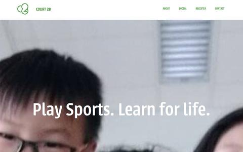 Screenshot of Home Page court28.com - Sports coaching, Events and Consultancies | Court 28 Ltd. - captured Feb. 1, 2016