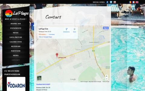 Screenshot of Contact Page laplage.ro - Contact | LaPlage - captured Nov. 4, 2014