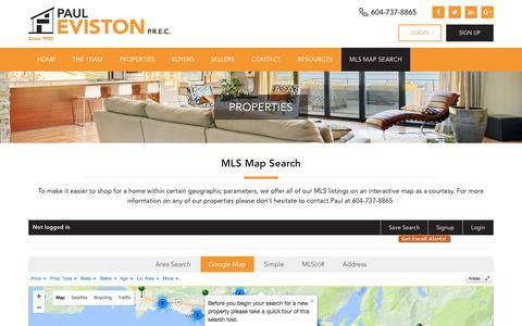 Screenshot of Maps & Directions Page pauleviston.com - Map search - captured Oct. 25, 2016