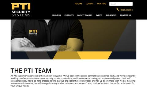 Screenshot of Team Page ptisecurity.com - Team - PTI Security Systems - captured Dec. 24, 2017