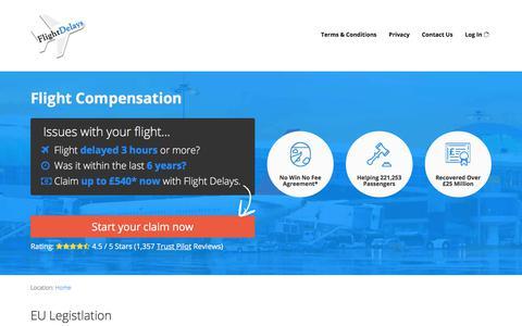Screenshot of Home Page flightdelays.co.uk - Flight Compensation | flightdelays.co.uk - captured Aug. 13, 2018