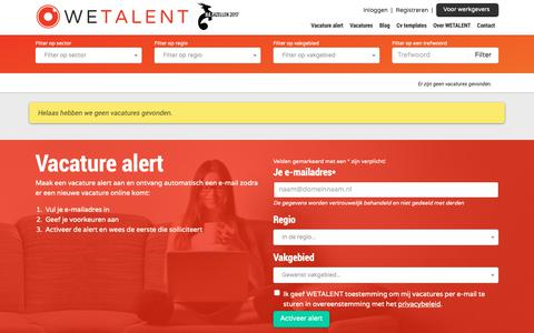 Screenshot of Team Page wetalent.nl - WETALENT RECRUIT - Vacatures - captured March 13, 2019