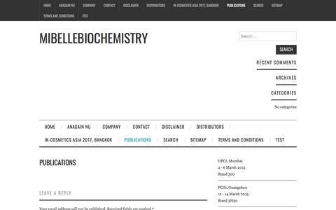 Publications – Mibellebiochemistry