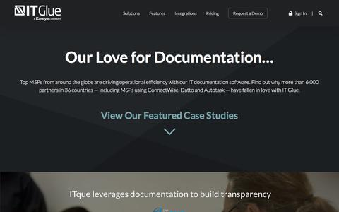 Screenshot of Case Studies Page itglue.com - Case Studies | IT Glue - captured June 28, 2019