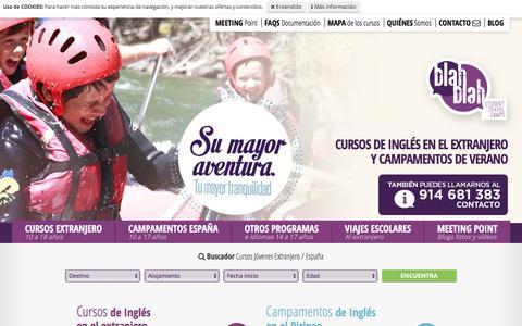 Screenshot of Home Page blahblah.es - Cursos de Inglés en el Extranjero: Desde 949€ - captured June 26, 2017