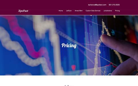 Screenshot of Pricing Page xpofact.com - Pricing | XpoFact - captured Sept. 21, 2018