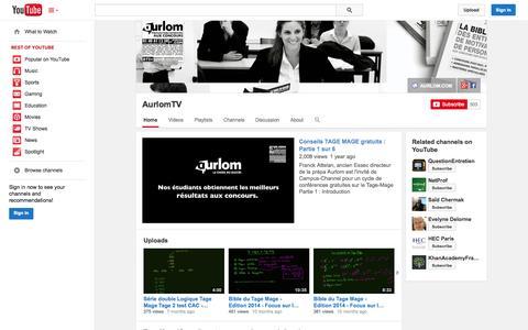 Screenshot of YouTube Page youtube.com - AurlomTV  - YouTube - captured Oct. 22, 2014