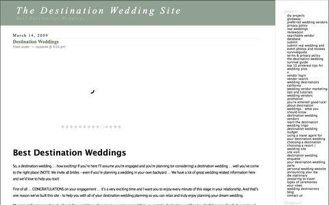 Best Destination Weddings | Destination Wedding Planning