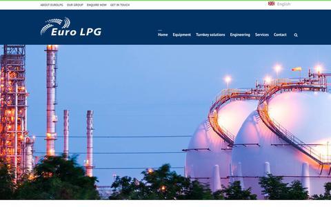 Screenshot of Home Page eurolpg.eu - Euro LPG - Equipment, Engineering & Services and Turnkey Solutions - captured July 21, 2018