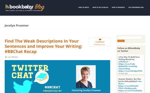 Screenshot of Blog bookbaby.com - Jocelyn Pruemer | BookBaby Blog - captured Feb. 27, 2017