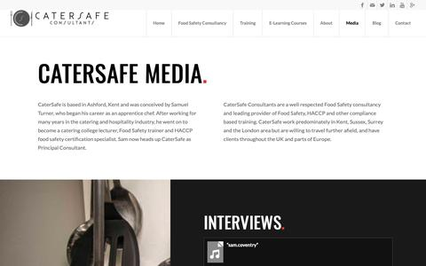 Screenshot of Press Page catersafeconsultants.co.uk - Media | Food Safety | Catersafe Consultancy | Interviews - captured Sept. 27, 2018