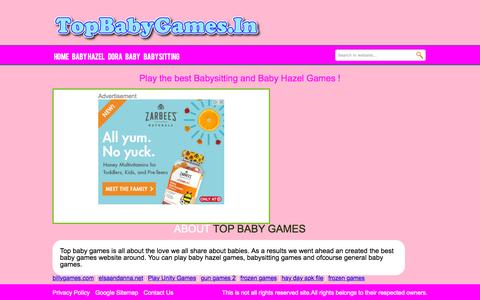 Screenshot of Contact Page topbabygames.in - Page not found - Top Baby Games - captured Sept. 30, 2015