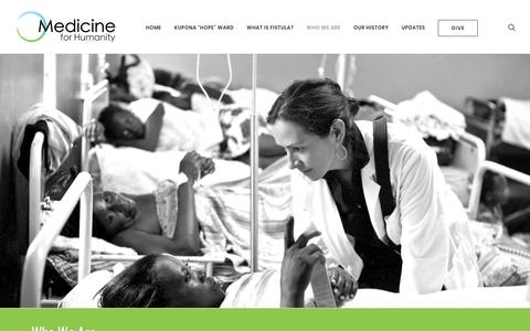 Screenshot of Team Page medicineforhumanity.org - Who We Are | Medicine for Humanity - captured Sept. 20, 2018