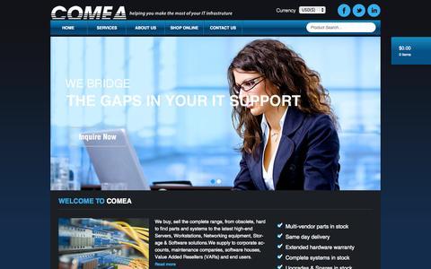 Screenshot of Home Page comea.com - Comea - captured Oct. 15, 2015