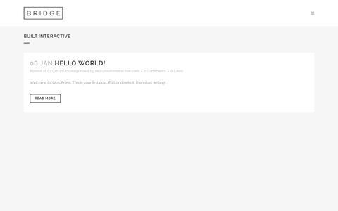 Screenshot of Home Page builtinteractive.com - Built Interactive | Just another WordPress site - captured Feb. 8, 2016