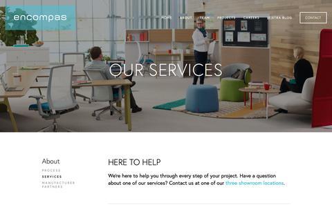 Screenshot of Services Page encompas.com - Services — encompas - captured Sept. 30, 2018
