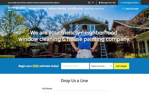 Screenshot of Contact Page collegepro.com - Contact College Pro Painters | College Pro - captured March 1, 2019