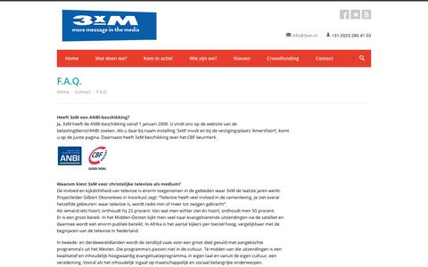 Screenshot of FAQ Page 3xm.nl - F.A.Q. - 3xM - captured Dec. 2, 2016
