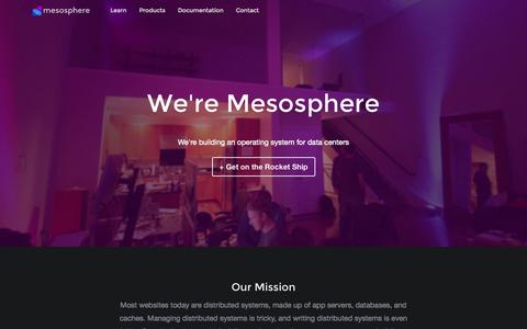 Screenshot of Team Page mesosphere.com - The Mesosphere Team · Mesosphere - captured Dec. 16, 2014
