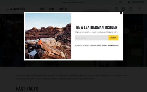 Screenshot of Press Page leatherman.com - Leatherman Media - captured Aug. 16, 2019