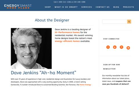 Screenshot of About Page energysmarthomeplans.com - About Dave Jenkins | Energy Smart Home Plans - captured Feb. 2, 2018
