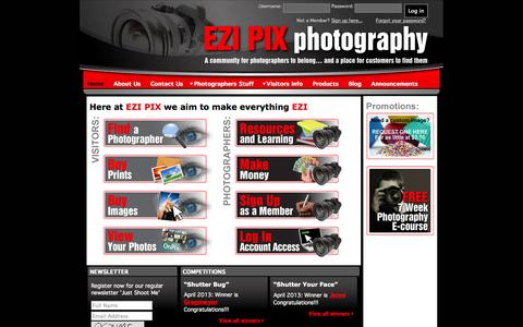 Screenshot of Home Page Privacy Page ezipix.com.au - Ezipix Photography, Photography Directory by price range - captured Oct. 3, 2014