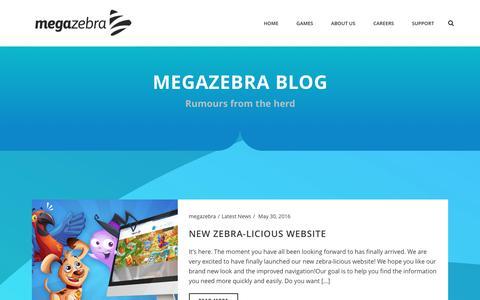 Screenshot of Blog megazebra.com - Blog – MegaZebra - captured July 3, 2016