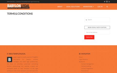 Screenshot of Terms Page babylonlegal.com - Terms & Conditions | BabylonLegal - captured Dec. 28, 2015