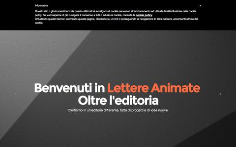 Screenshot of Home Page lettereanimate.com - Lettere Animate - captured July 21, 2015