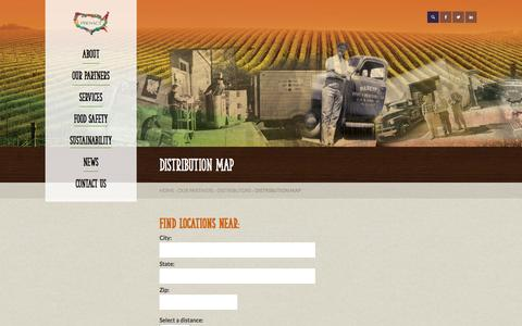 Screenshot of Maps & Directions Page proactusa.com - Fresh Produce Distributors | Supply Chain Management | Map - captured Oct. 28, 2014