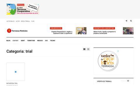 Screenshot of Trial Page terrassanoticies.com - trial Arxius de - Terrassa Notícies - captured Nov. 19, 2018