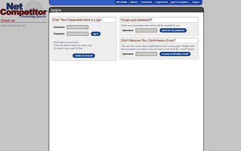 Screenshot of Login Page netcompetitor.com - Net Competitor :: Login - captured Nov. 3, 2014