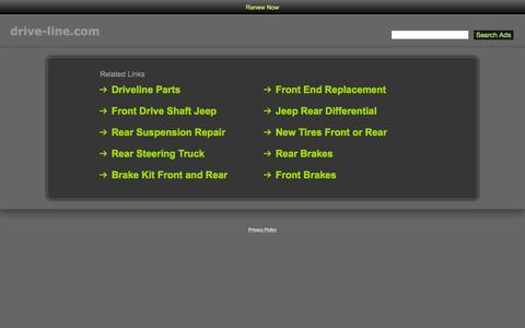 Screenshot of Home Page drive-line.com - Drive-Line.com - captured Oct. 10, 2015