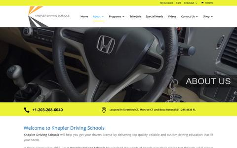 Screenshot of About Page kneplerdrivingschools.com - About Driver's Ed | Knepler Driving Schools - captured Nov. 6, 2018