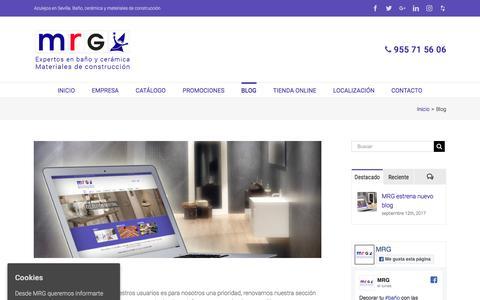 Screenshot of Blog mrgsa.com - Blog archivos - Azulejos en Sevilla. Baño, cerámica y materiales de construcción - captured Oct. 3, 2017
