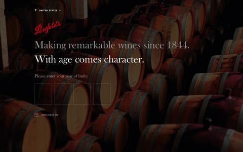 Screenshot of Signup Page penfolds.com - Friends of Penfolds Newsletter | Penfolds Wines - captured June 23, 2018