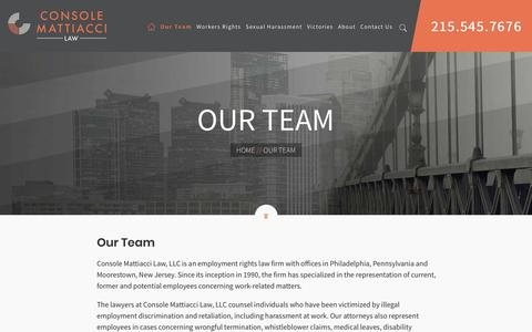 Screenshot of Team Page consolelaw.com - Our Team - Console Mattiacci Law - captured Sept. 29, 2018