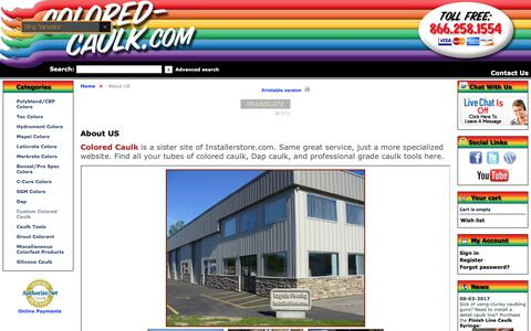 Screenshot of About Page colored-caulk.com - Colored Caulk | About Our Site - captured Oct. 21, 2018