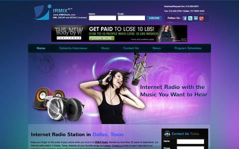 Screenshot of Home Page irmixradio.com - IRMIXRadio.com - captured Oct. 2, 2014