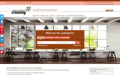 Screenshot of Home Page employmentcrossing.com - Job Search | Largest Collection of Jobs | EmploymentCrossing.com - captured Oct. 1, 2015