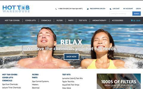 Screenshot of Home Page hottubwarehouse.com - Hot Tub Warehouse Home Page - captured July 24, 2015
