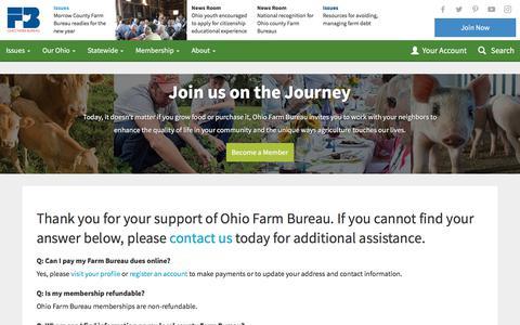 Screenshot of FAQ Page ofbf.org - FAQ - Ohio Farm Bureau - captured Nov. 1, 2017
