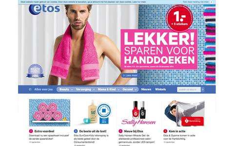 Screenshot of Home Page etos.nl - Home - Etos - captured Sept. 19, 2014